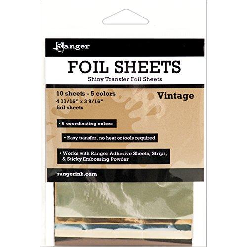 Ranger Shiny Transfer Foil Vintage Sheets (10 Pack)