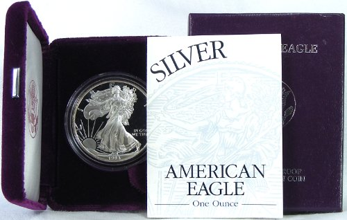 1993 Proof American Silver Eagle with Original Packaging ()