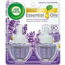 Air Wick Scented Oil 2 Refills, Lavender & Chamomile, (2X0.67oz), Air Freshener