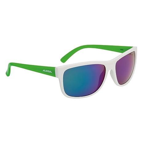 ALPINA Gafas de Sol Heiny Cristal Verde Espejo S3 Blanco ...