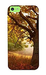 LJF phone case New Fashion Premium Tpu Case Cover For ipod touch 4 - Nature Landscapes Trees Roads Autumn Fall Seasons Fog Mist Haze Colors Fields Case For New Year's Day's Gift