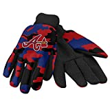 MLB Atlanta Braves Utility Glove, Camouflage, Red