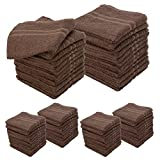 6 Dozen Allure 100% Cotton Salon Spa Facial Drying Terry Cloth 72 Towels 16''x29'' Chocolate Brown