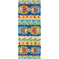 Jellybean FUN FISH Indoor/Outdoor Rug (21 X 54)