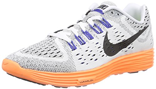 17ccf242a876 Galleon - Nike Men s LunarTempo White Total Orange Game Royal Black Running  Shoes - 10 D(M) US