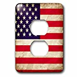 3D Rose lsp_255816_6 USA American Flag Stars and Stripes Old Look Trendy Work 2 Plug Outlet Cover