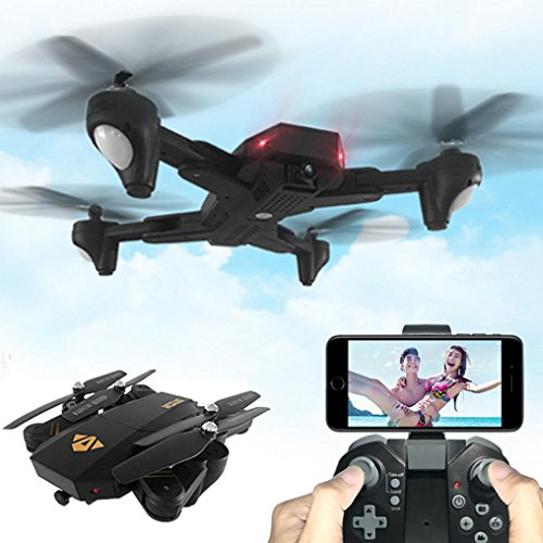Price comparison product image Hot sale! XS809HW Quadcopter Drone,Wifi FPV 2.4G 4CH 6 Axis Altitude Hold Function Remote Control Drone with 720P HD 2MP Camera Drone RC Toy Foldable Drone by Sunfei (3 Battery)
