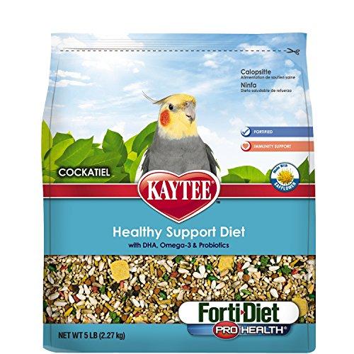 Kaytee Forti Diet Pro Health Bird Food With Safflower For Cockatiels, 5-Pound Bag