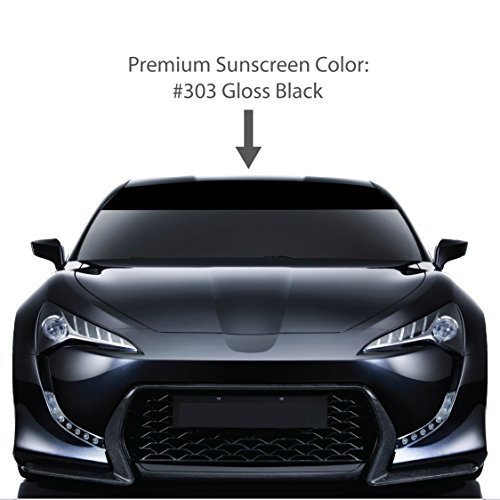 dshield Visor Sun Screens. / GLOSS BLACK / Vinyl Stripes & Decals. / Custom Made for Cars Trucks Auto Vehicles Vans Windows. / universal sunscreen stickers. / By 1060 Graphics. ()