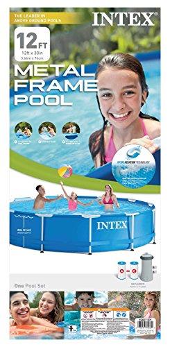 "Intex 12' x 30"" Metal Frame Pool with Filter Pump"
