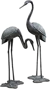 SPI Large Garden Crane Pair Bird Statues