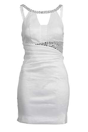 Mini white dress uk size