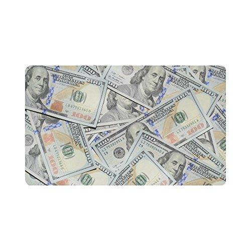 InterestPrint Hundreds of 100 Dollar Bills Indoor Outdoor Entrance Rug Floor Mats Shoe Scraper Doormat Non-Slip Home Decor, Rubber Backing 30