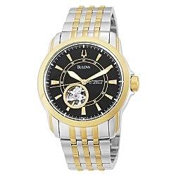 Bulova Men's 98A101 Automatic Self-Winding Mechanical Exhibition Caseback Bracelet Watch