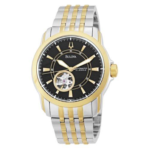 Black Self Winding Bracelet (Bulova Men's 98A101 Automatic Self-Winding Mechanical Exhibition Caseback Bracelet Watch)