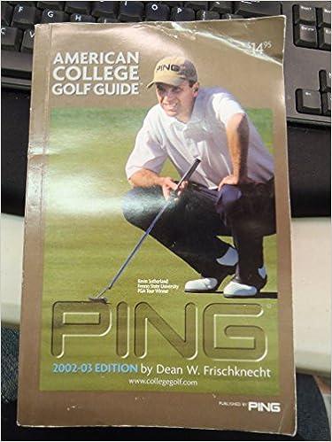 Multibrief: golf q&a: dean frischknecht of ping american college.