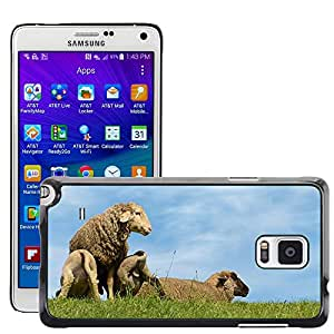 Hot Style Cell Phone PC Hard Case Cover // M00112706 Sheep Lambs Dike Animal // Samsung Galaxy Note 4 IV