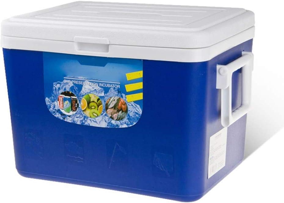 ZLSANVD Caja del refrigerador Nevera portátil al Aire Libre de Rod Aislamiento del Coche de Caja del Cubo de Hielo Frigorífico Pesca Grande de Aislamiento plástico en frío Cubo de Hielo for