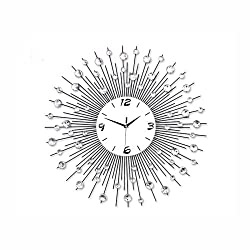 LightInTheBox Modern Style Metal Mute Indoor Wall Clock Quartz Movement