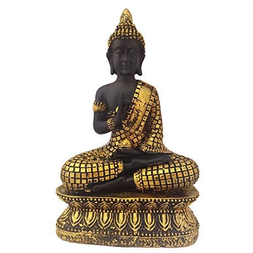 Divya Mantra Meditating Gautam Buddha Murti Sculpture Statue Puja Idol for Peace and Serenity