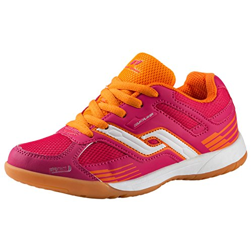 Pro Touch Unisex-Kinder Indoor-Schuh Courtplayer Multisport Rot (Rot/Orange 000)