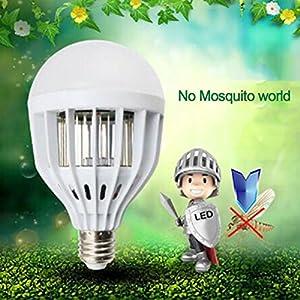 WALLER PAA 18W Powered UV Mosquito Bulb Zapper Killer Bug Trap LED Garden Light Lamp
