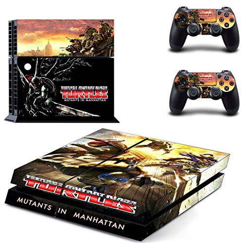 Teenage Mutant Ninja Turtles ps4 skin decal for console and 2 controllers (Ninja Turtles Ps4 compare prices)