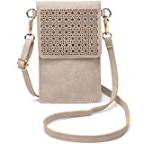 seOSTO Small Crossbody Bag Cell Phone Purse Wallet with 2 Shoulder Strap Handbag for Women Girls (Beige)
