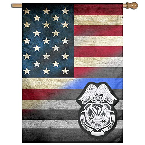 US Army Military Police Badge 100% Polyester House Flag Decorative Garden Flag Yard Banner Garden Flags 27x37