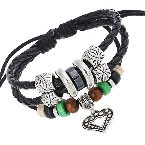 vicheer-handmade-wood-beads-silver-charm-braided-leather-wrap-bracelet-cuffs-heart-