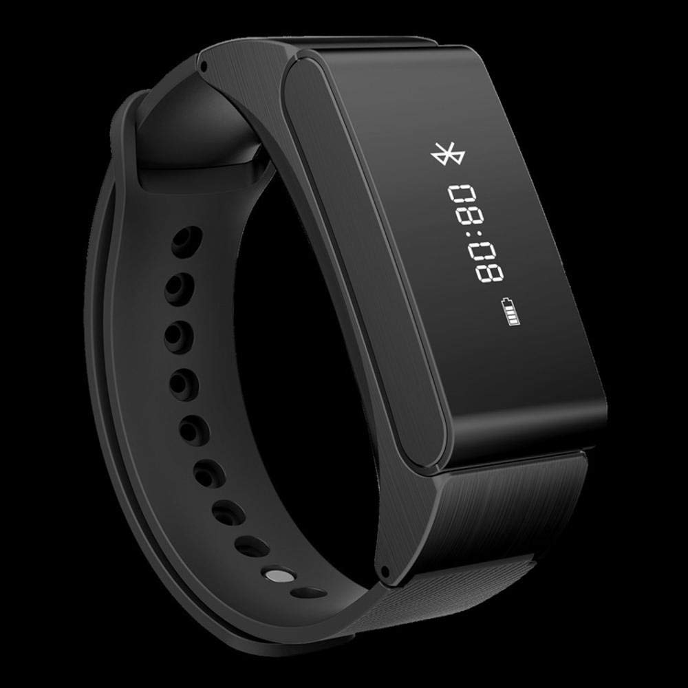 Ambiguity Fitness-Armband,Blautooth-Ohr Smart Experten Ring Metall Materialinformationen Anruf Erinnerung Abholung Anruf Leder Armband Armband