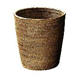 Basket Rattan Paper Basket rattan dark