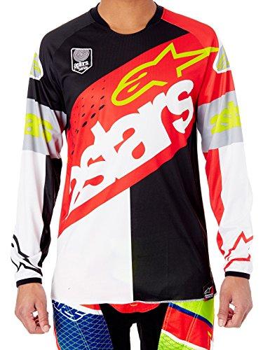 Rouge m Alpinestars bianco nero Mx 2018racer T shirt Flagship Rosso TfzFwgqf