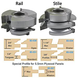Infinity Tools Matched Rail And Stile Shaper Cutter Sets