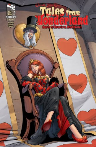 Download Tales From Wonderland Queen of Hearts Vs Mad Hatter One Shot Cover a Comic pdf epub