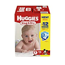 HUGGIES Snug & Dry Diapers, Size 2, Giga Pack - 116 Count