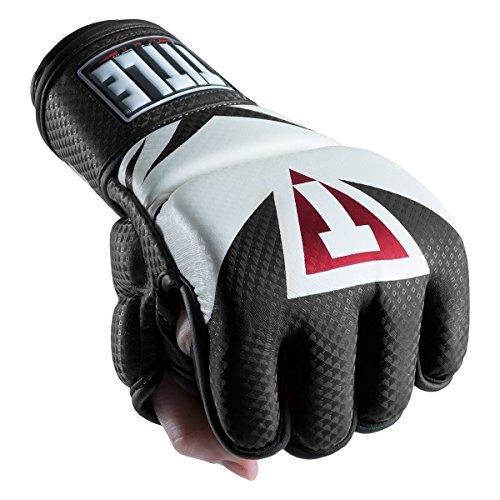 Title Mma Training - TITLE MMA Command Training Gloves, Black/White, Large