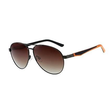 Gafas de Sol polarizadas Color Claro Controlador de Película Espejo Marco de Metal Vintage Anti-