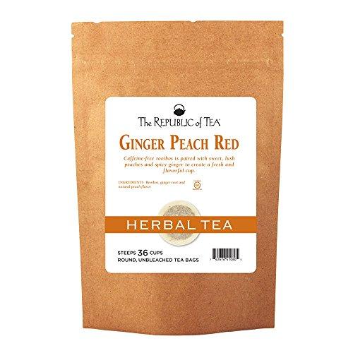 The Republic Of Tea Ginger Peach Red Rooibos Tea, 36 Tea Bags (Refill (Ginger Peach Decaf Tea)