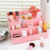 LiangGui Office Desk Organizer Desktop Cosmetic Storage Pink
