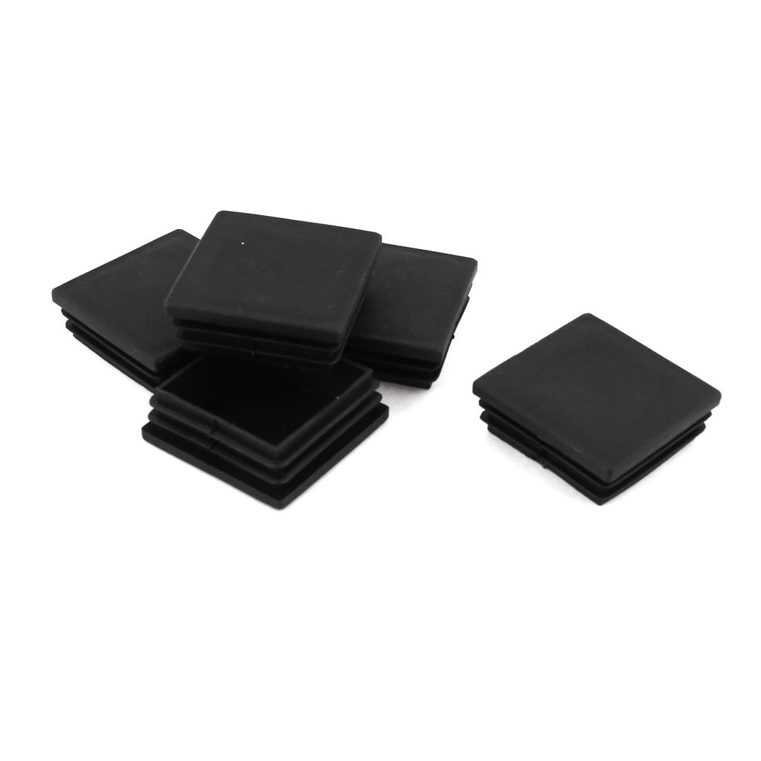 uxcell Plastic Square Tubing Inserts End Blanking Cover Caps 50mmx50mm 5 Pcs a15010700ux0309