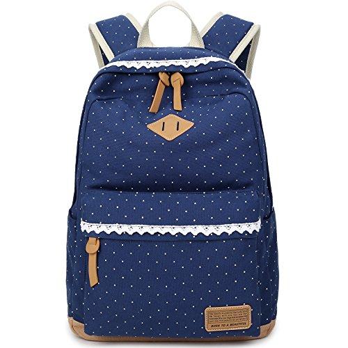 Hery Canvas Mochilas Travel Daypacks Mochila para laptop Mochila escolar Mochilas para niñas Niños Azul oscuro