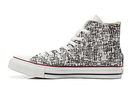 Schuhe personalisierte Hi Converse Abstract Schuhe Handwerk All Customized Star awIazX4q