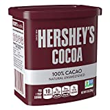 HERSHEY'S Natural Unsweetened 100% Cocoa, Baking supplies and Beverage Mix Gluten Free, 8 Ounce Can (Pack of 6)