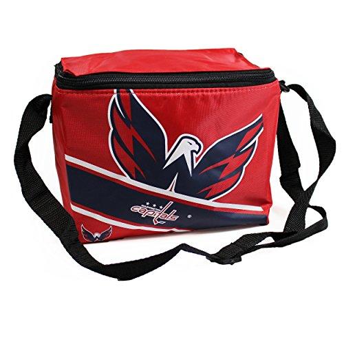 fan products of Washington Capitals Big Logo Stripe 6 Pack Cooler