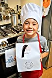 Pastime Treasures Kids Chef Costume with Apron, Hat & Cooking Accessories (White) - Ages 8+ - Includes The Ultimate Recipe Musical CD & Storybook - Adjustable Restaurant Quality Apron & Hat