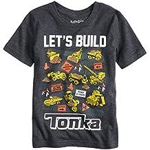 "Toddler Boys Short Sleeve Construction Site ""Let's Build"" Collectible Shirt"