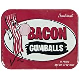 Bacon Flavored Gumballs In Tin by Accoutrements