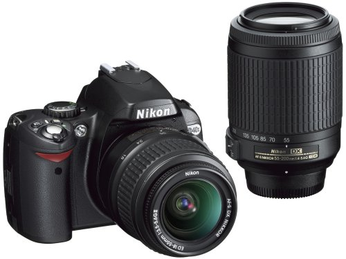 - Nikon D40X DSLR Camera with 18-55mm f/3.5-5.6G ED II AF-S DX and 55-200mm f/4.5-5.6G ED AF-S DX Zoom-Nikkor Lens