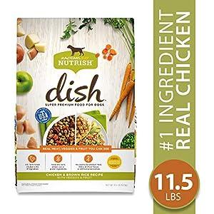 Rachael Ray Nutrish Dish Natural Premium Dry Dog Food, Chicken & Brown Rice Recipe With Veggies & Fruit, 11.5 Lbs